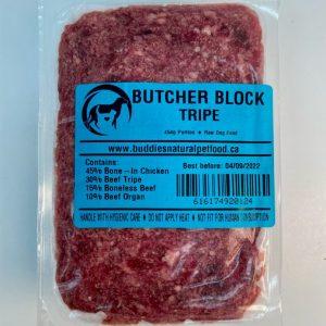 Tripe Butcher Block - 40# Case - 454g Portion