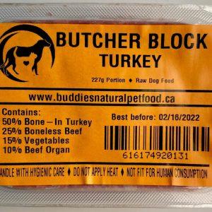 Turkey Butcher Block - 4x10# Box - 227g Portion